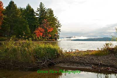 Autumn Morning Mist - Big Moose Lake