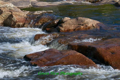 Ausable River - Flowing over the Rocks